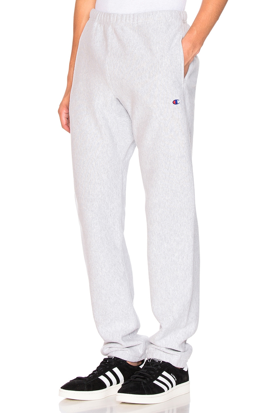 Champion Reverse Weave Elastic Cuff Pant in Grey