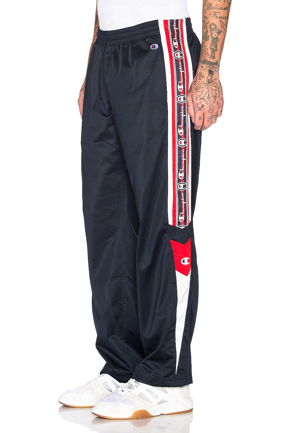Champion Reverse Weave Champion Track Pants in Navy