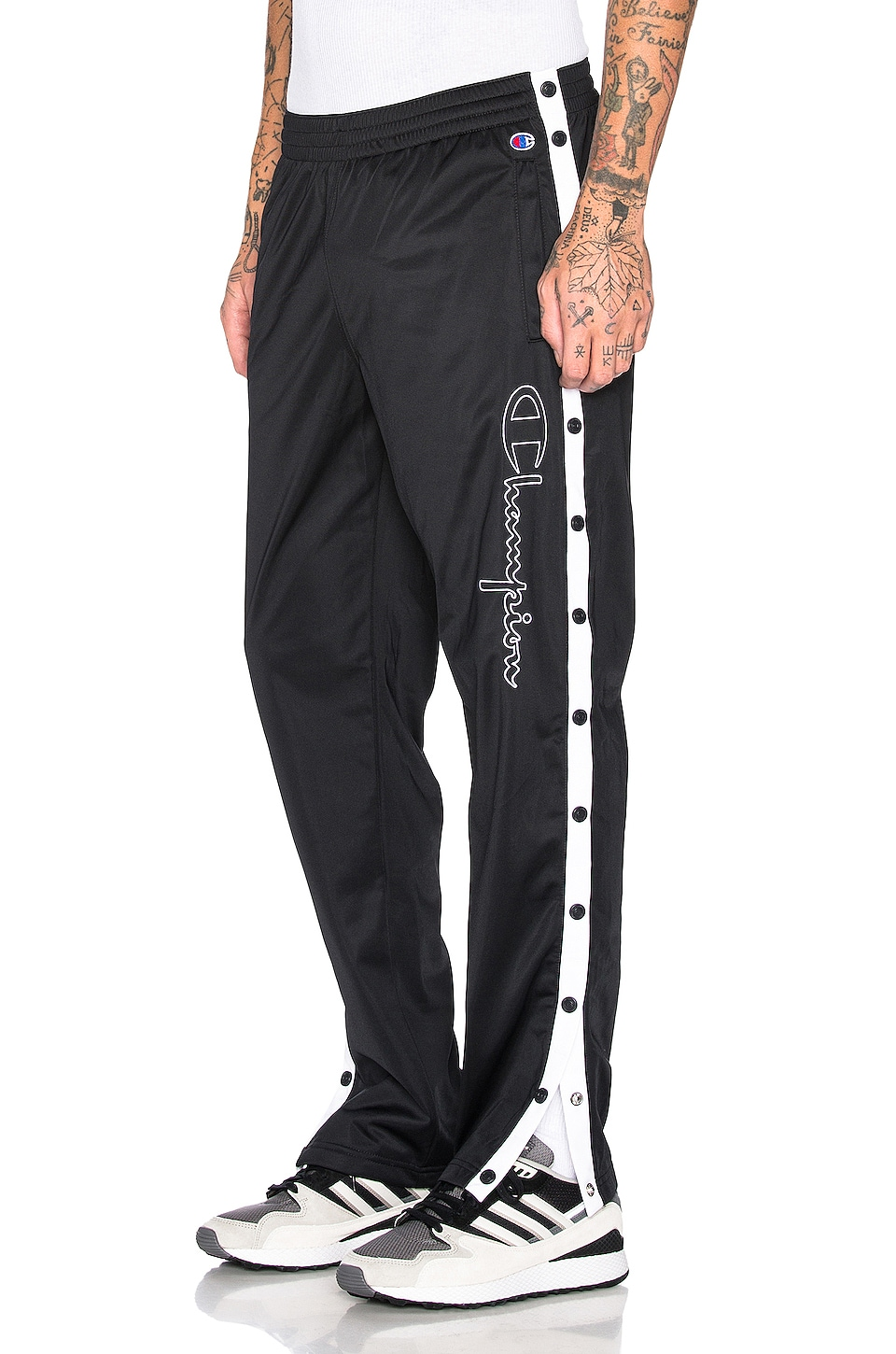 Champion Reverse Weave Champion Pants in Black & White