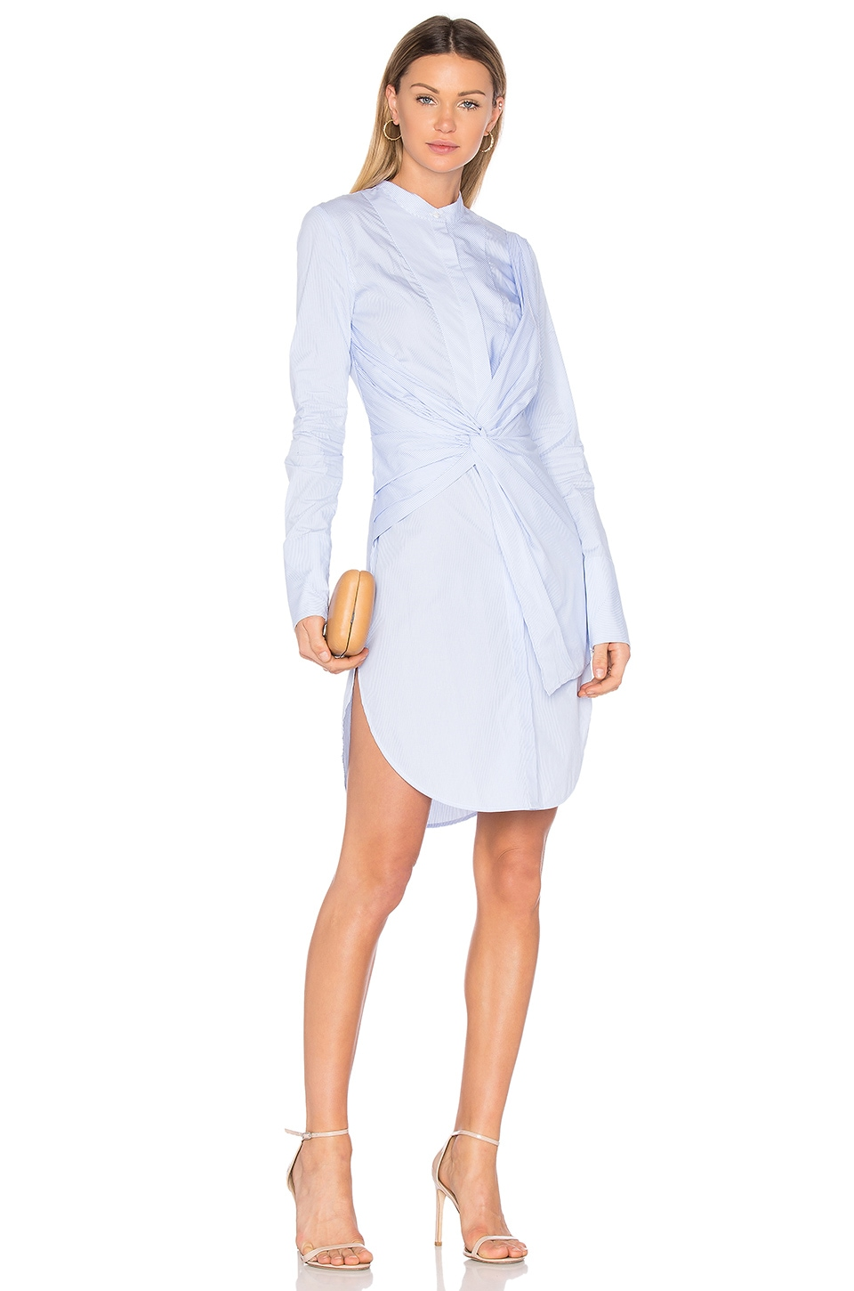 Acler Rowe Shirt Dress in Blue Stripe