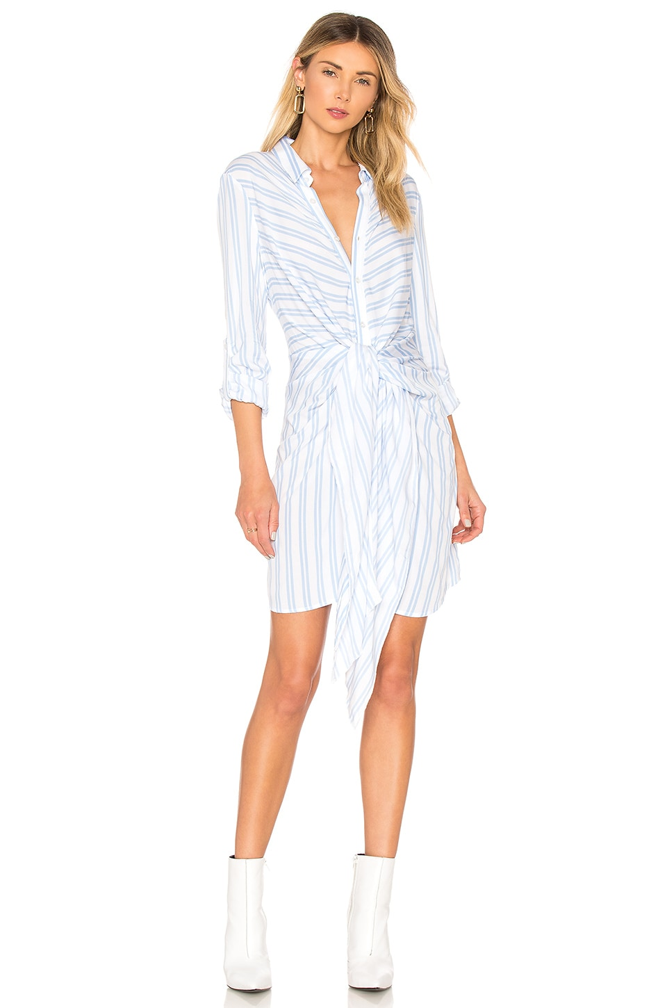CENTRAL PARK WEST BLUEBELL TIE FRONT DRESS
