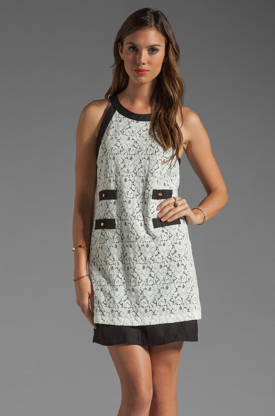 Central Park West Nantucket Lace Dress in Ivory