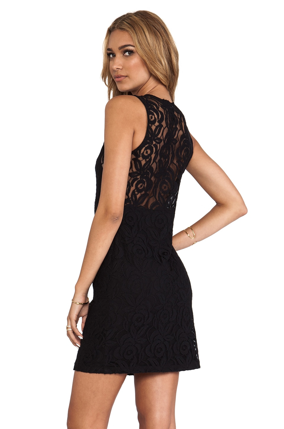 Central Park West Belize Dress in Black/Black