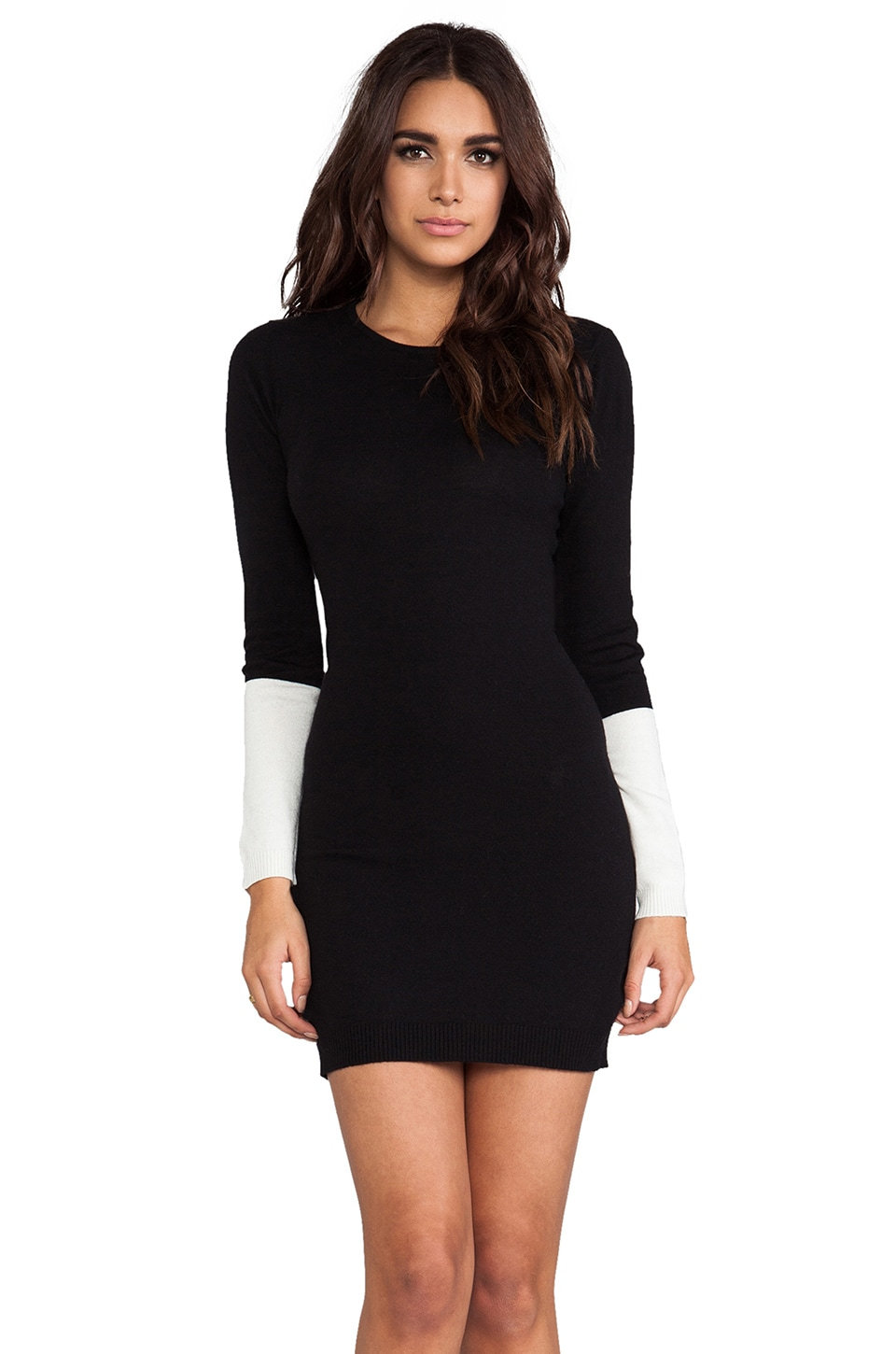 Central Park West Kingsport Sweaterdress in Black