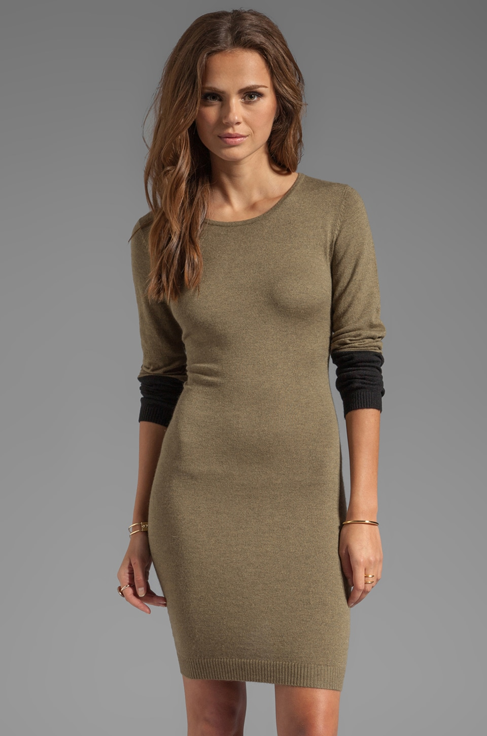 Central Park West Kingsport Sweaterdress in Olive
