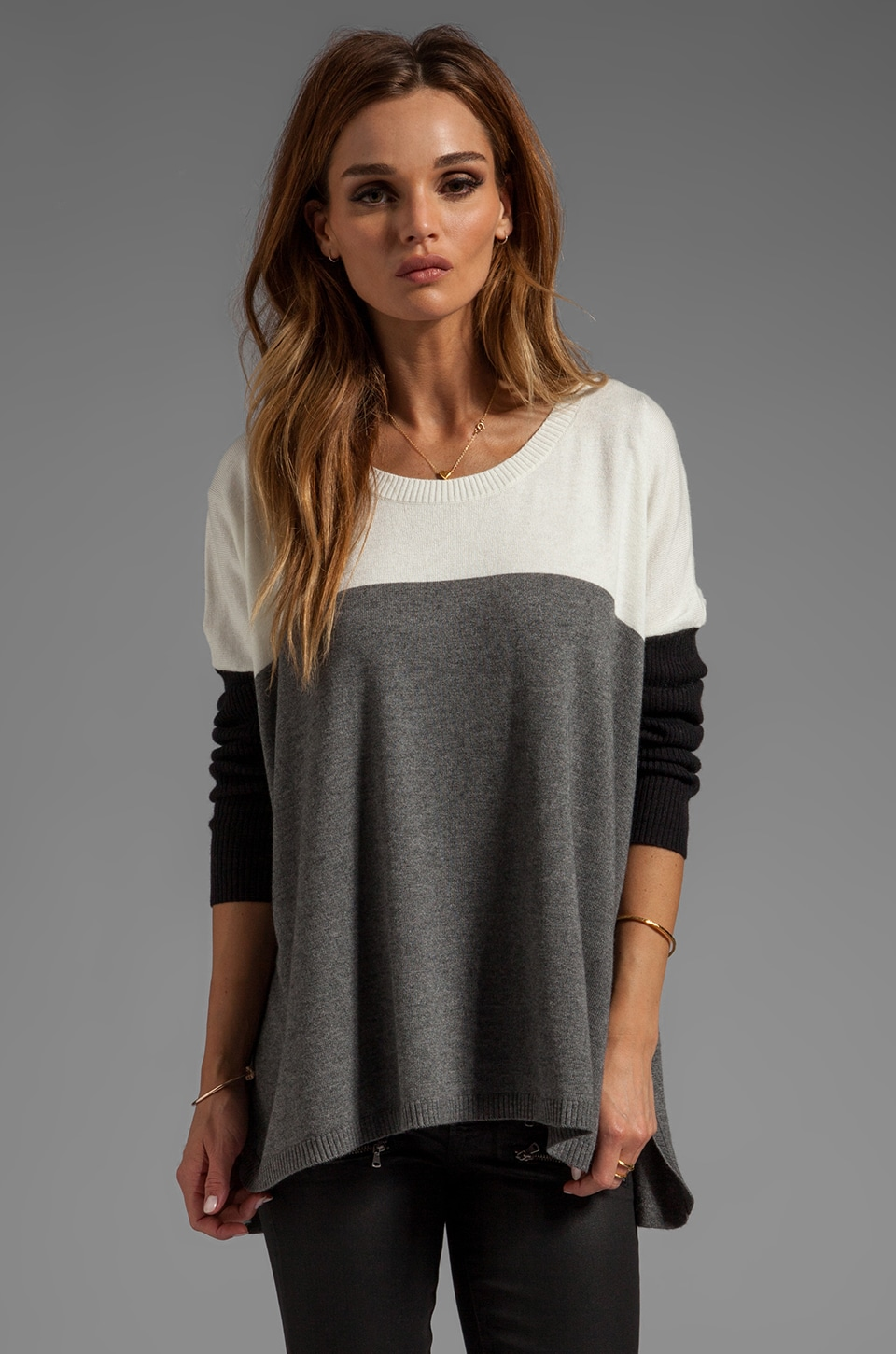 Central Park West Barrington Boxy Sweater in Ivory