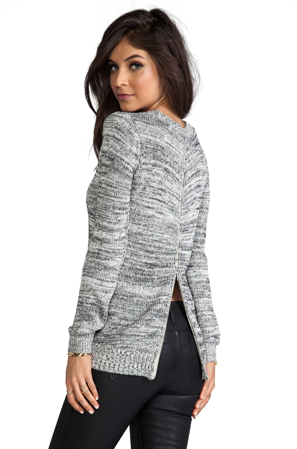 Central Park West Glenrock Cropped Pullover in White