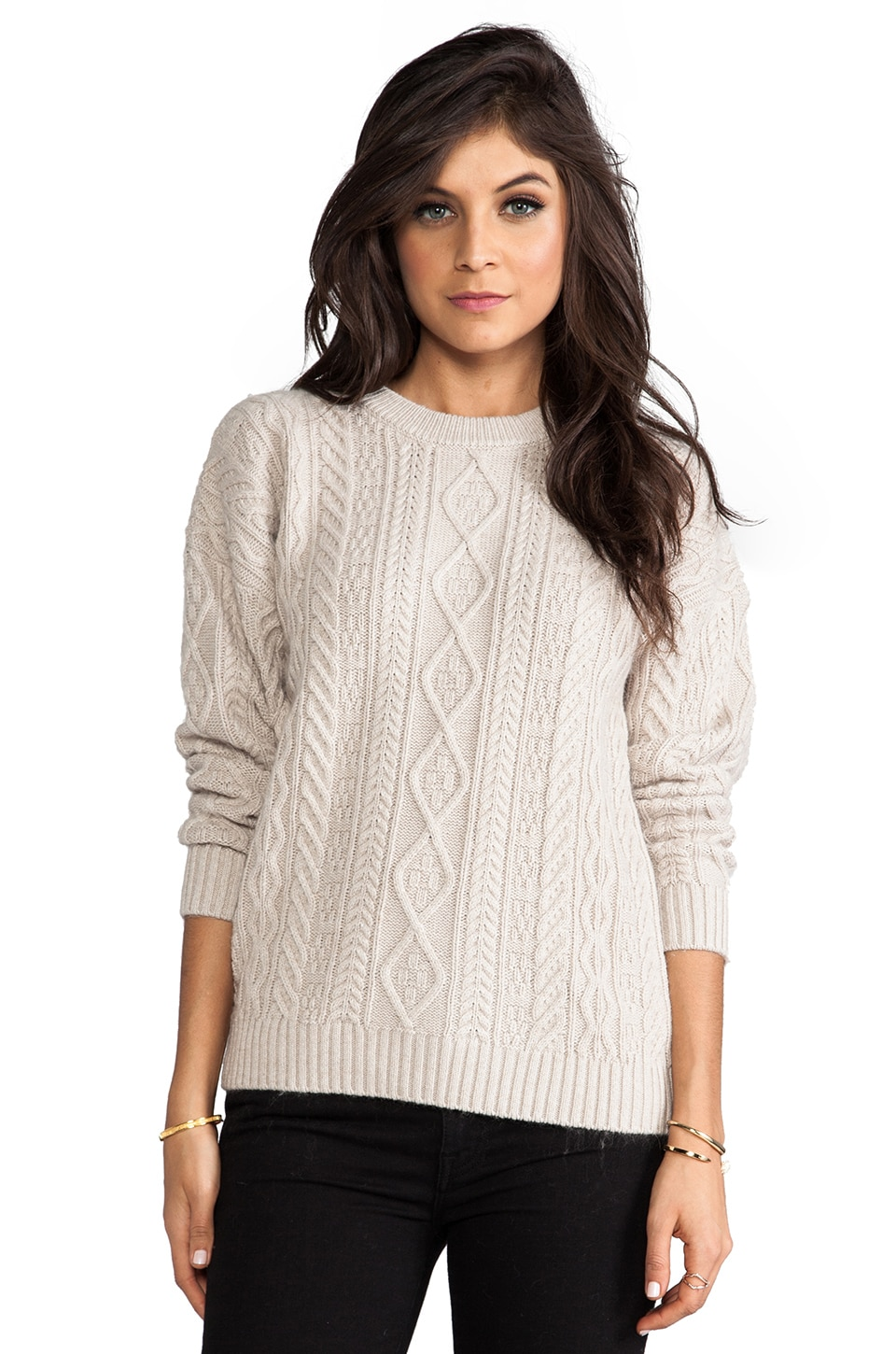 Central Park West Caribou Pullover in Oatmeal
