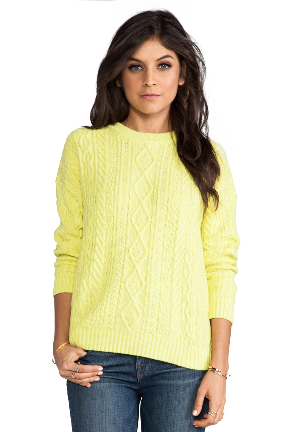 Central Park West Caribou Pullover in Citron