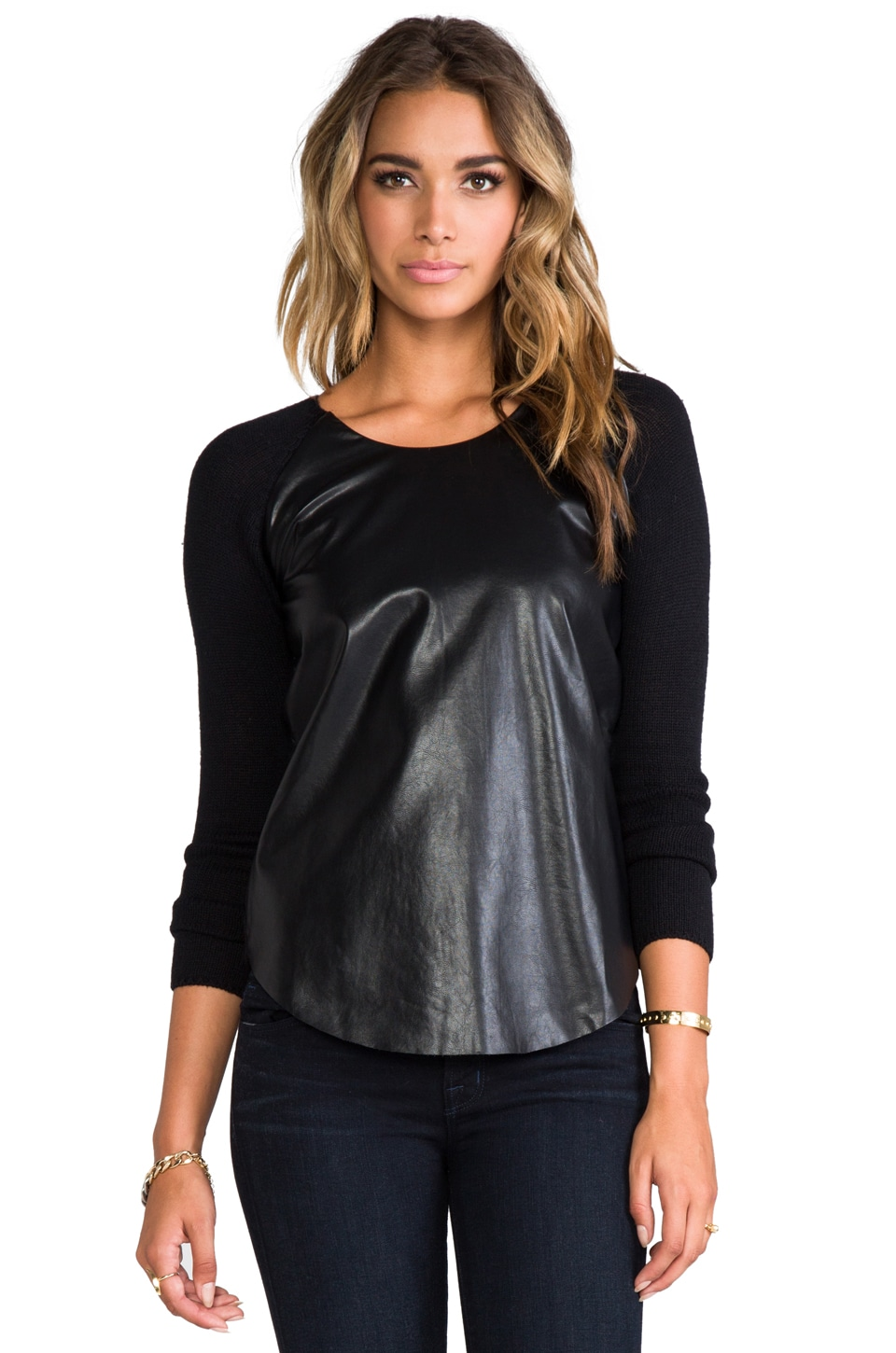 Central Park West Knickerbocker Place Sweater in Black