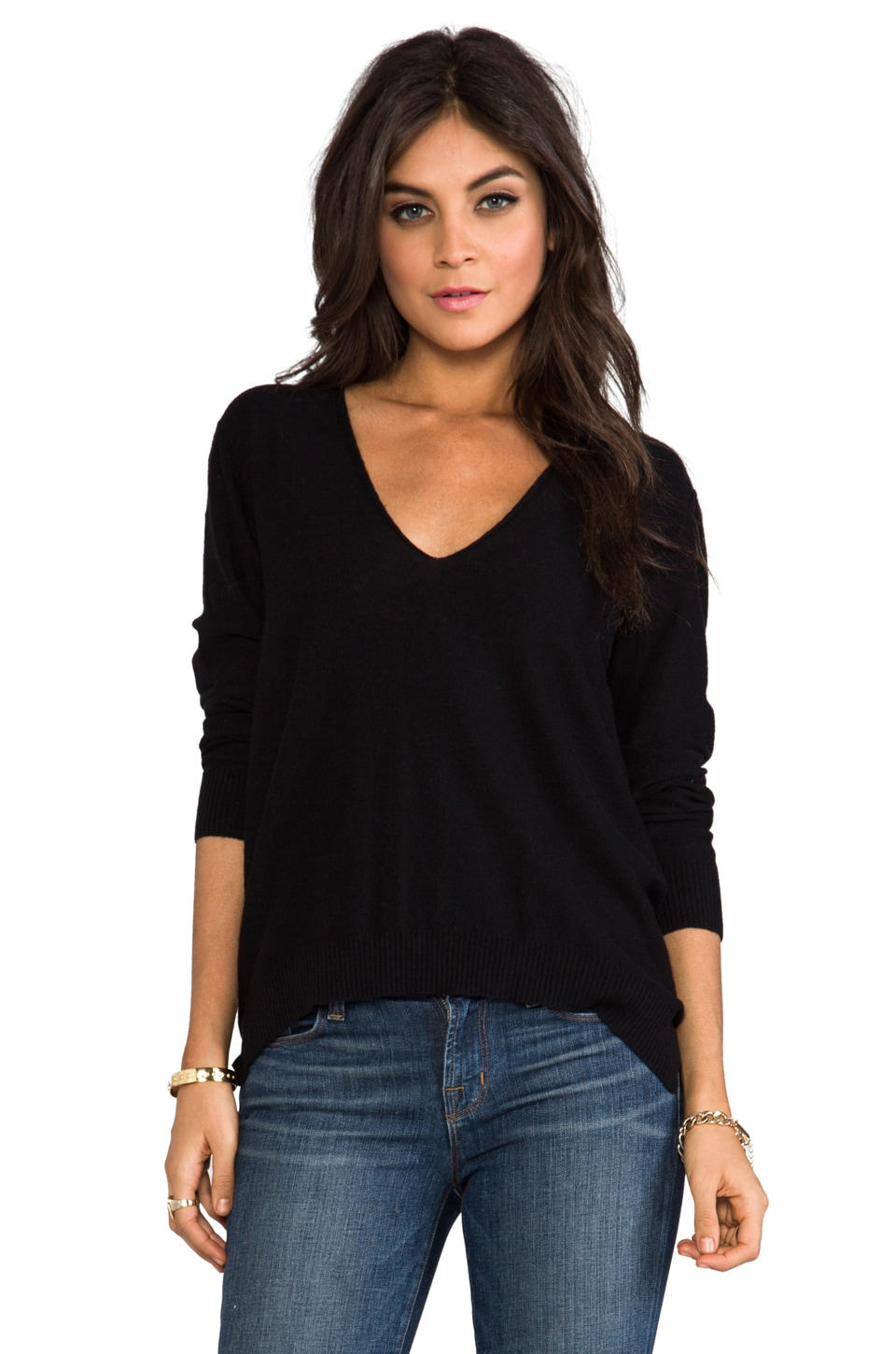 Central Park West Rhinelander Sweater in Black