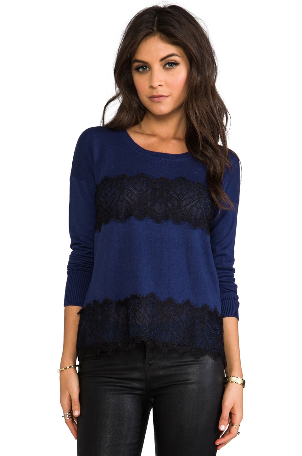 Central Park West Toulouse Pullover in Navy