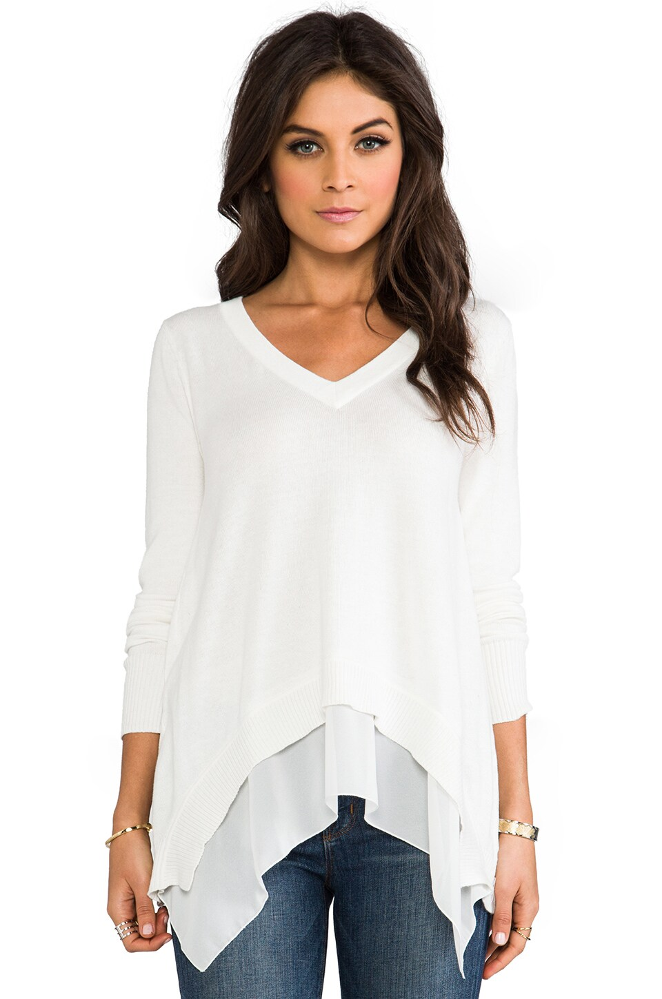 Central Park West Rimini Sweater in Ivory