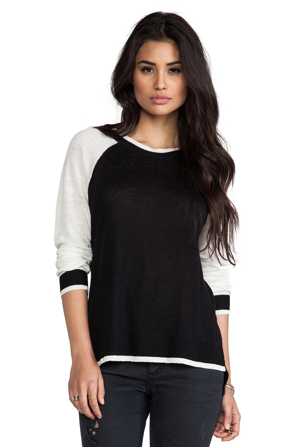 Central Park West Zanzibar Athletic Sweater in Black Multi