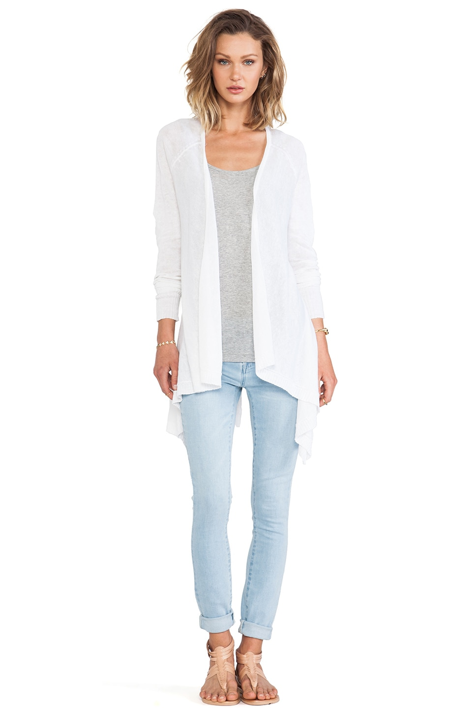 Central Park West Mumbai Cardigan in White
