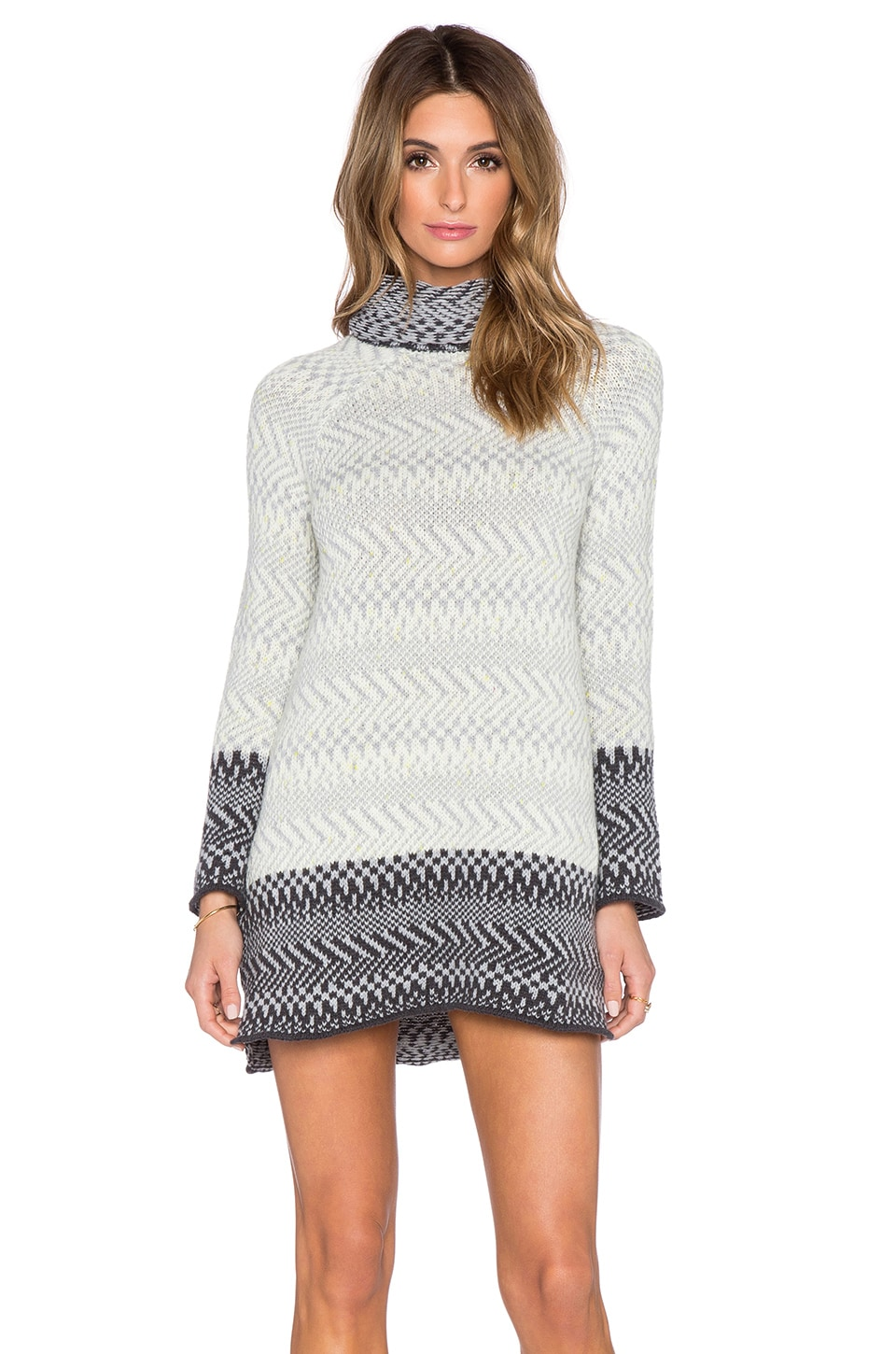 Central Park West Oslo Turtleneck Sweater in Grey