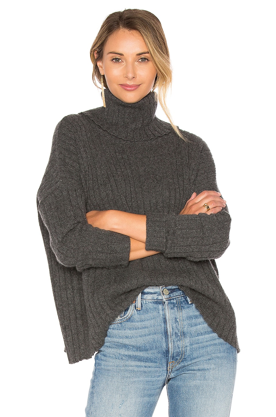 Salzburg Turtleneck Sweater in Grey Central Park West 100% Guaranteed Clearance With Mastercard Fake Cheap Online Shopping Online Cheap Price cDNFDC