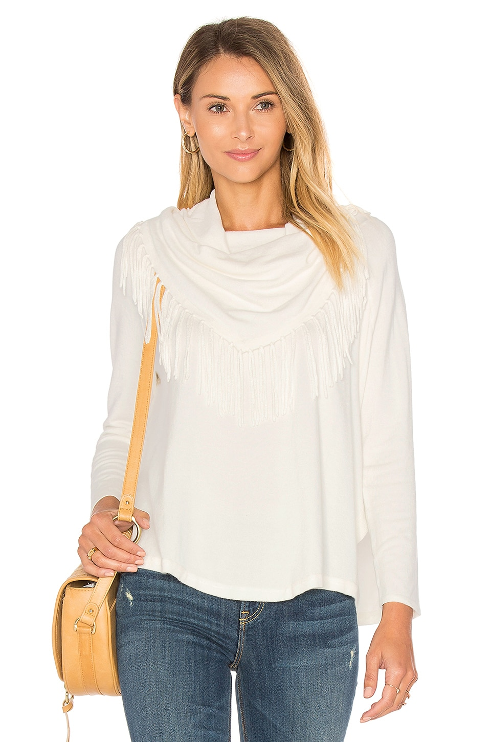Toulouse Fringe Turtleneck Sweater by Central Park West