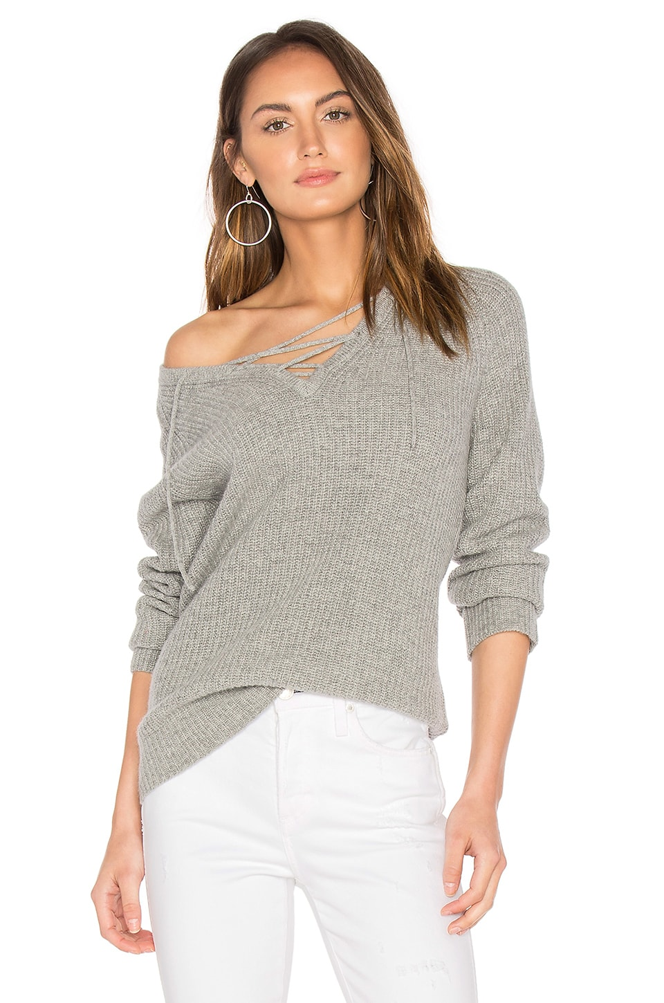 Leeds Lace Up Sweater by Central Park West
