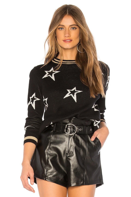 CENTRAL PARK WEST Valpolicella Lurex Trim Sweater in Black