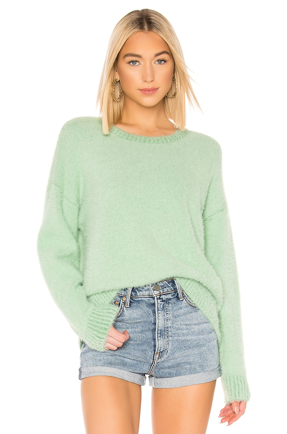 Central Park West Shangri La Sweater in Mint