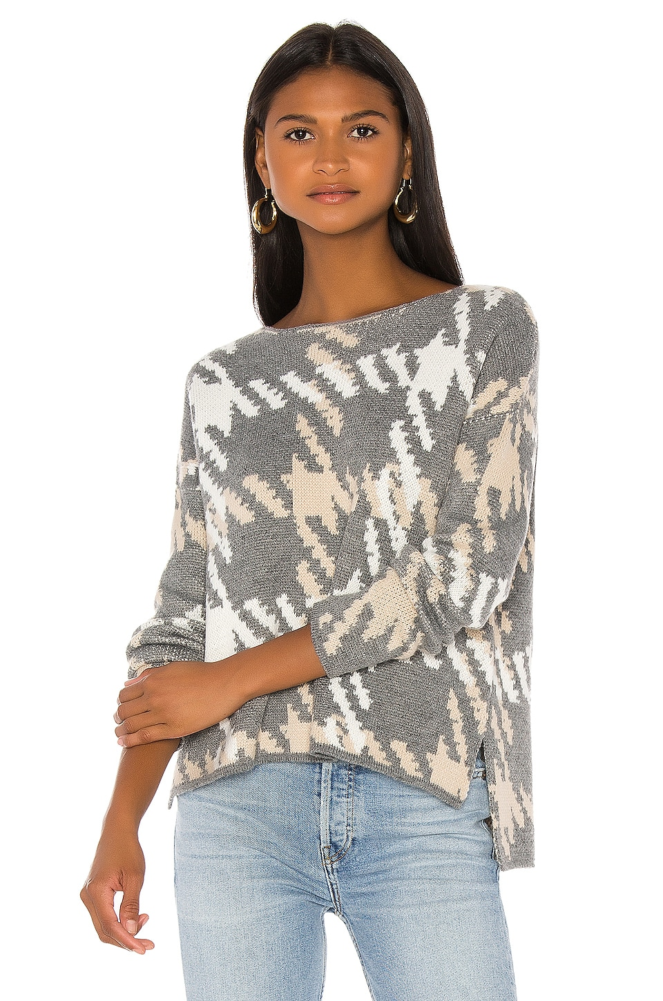 Central Park West Arlo Pullover in Charcoal