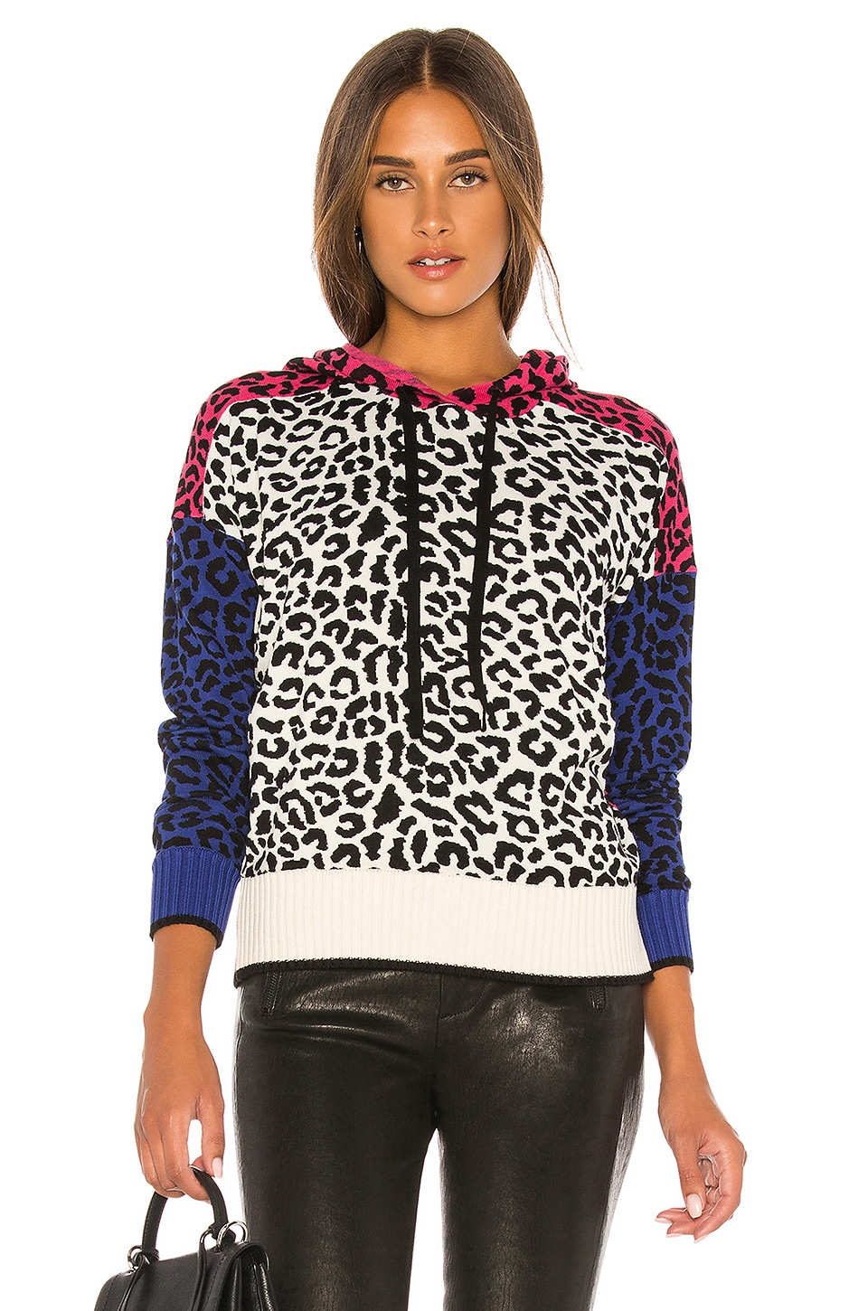Central Park West Miami Hoodie in Multi Leopard