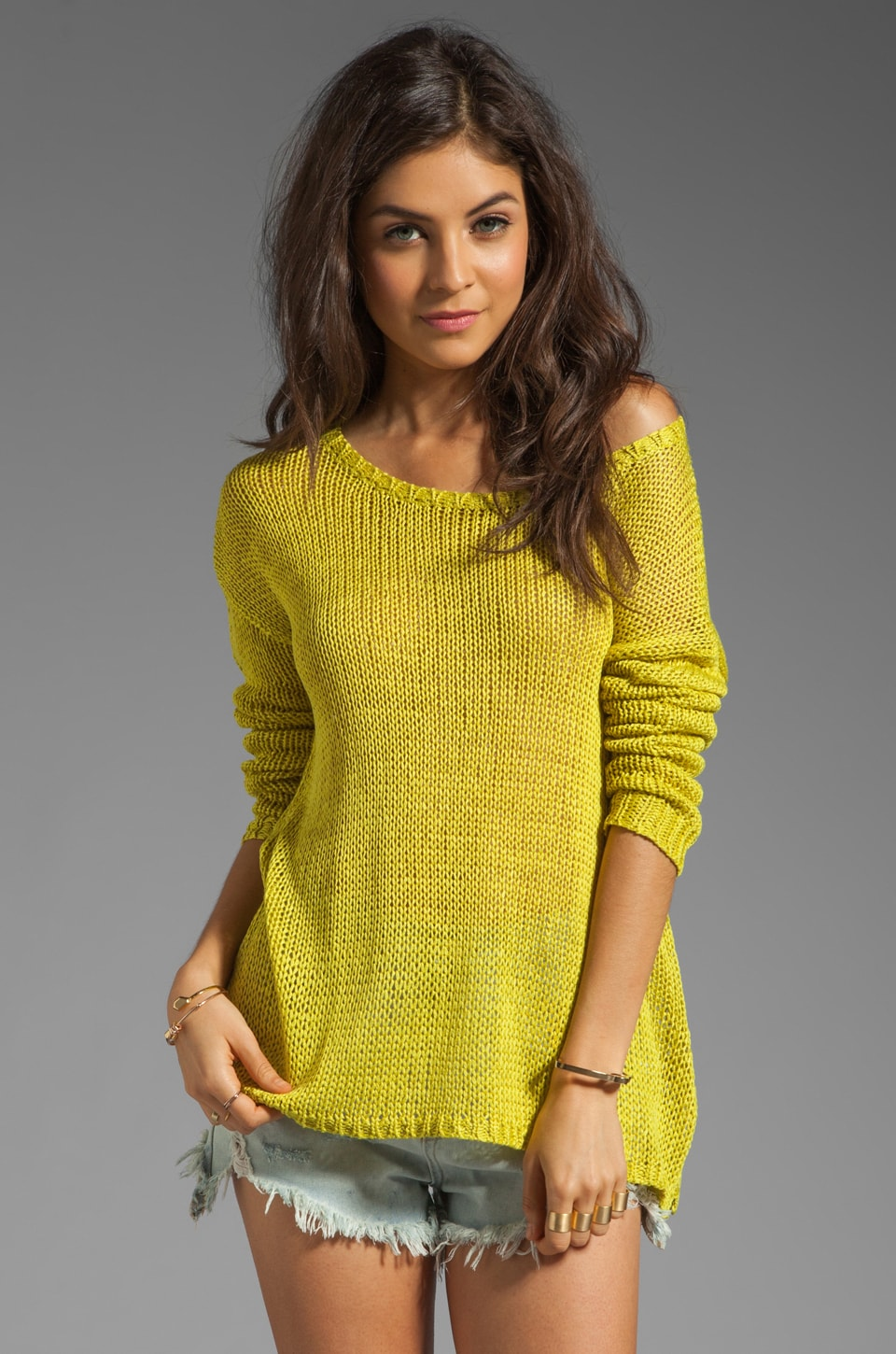 Central Park West Vero Beach Pullover in Chartreuse