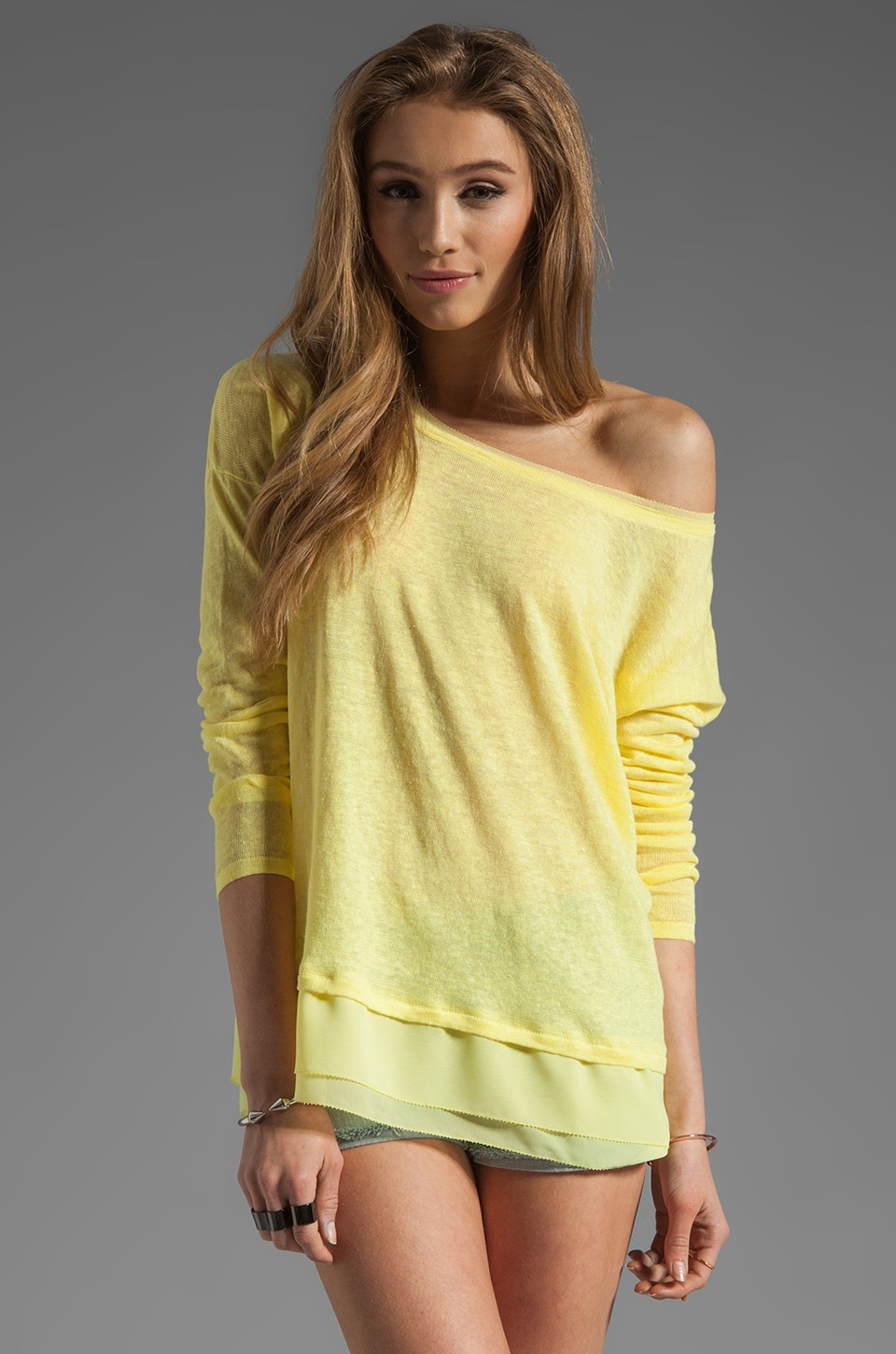 Central Park West Chapel Hill Pullover in Citron