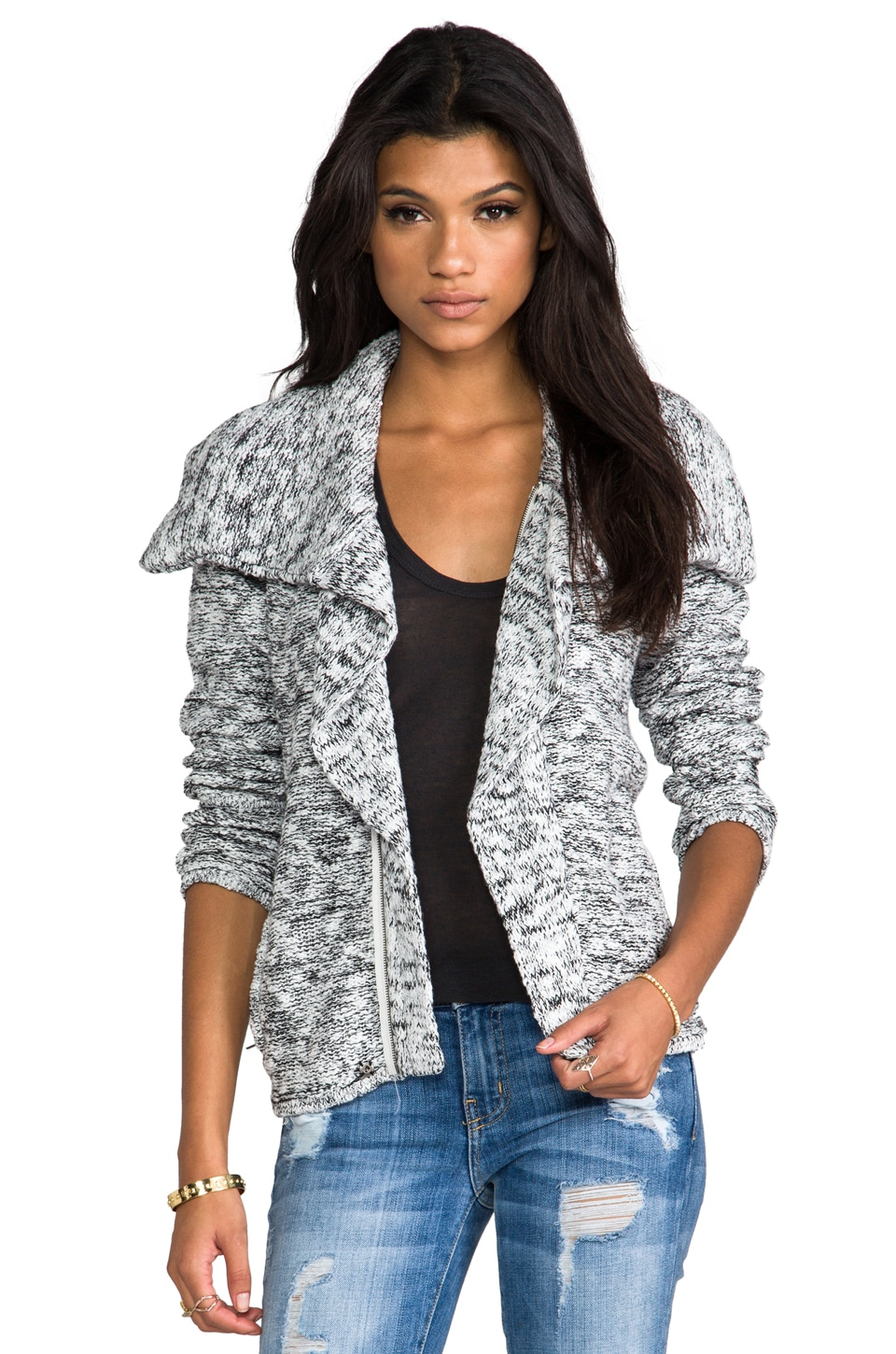 Central Park West Stuyvesant Place Sweater Coat in White