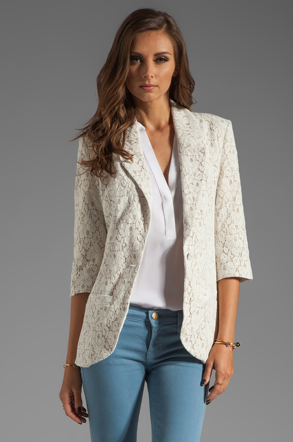 Central Park West Nantucket Blazer in Ivory
