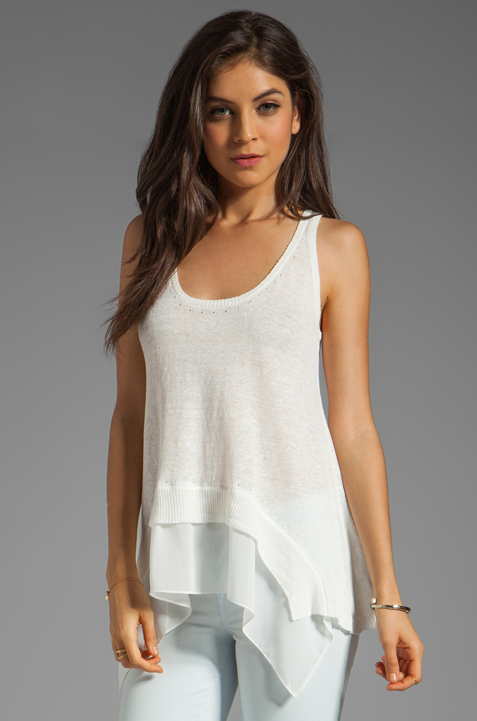 Central Park West Chapel Hill Tank in White