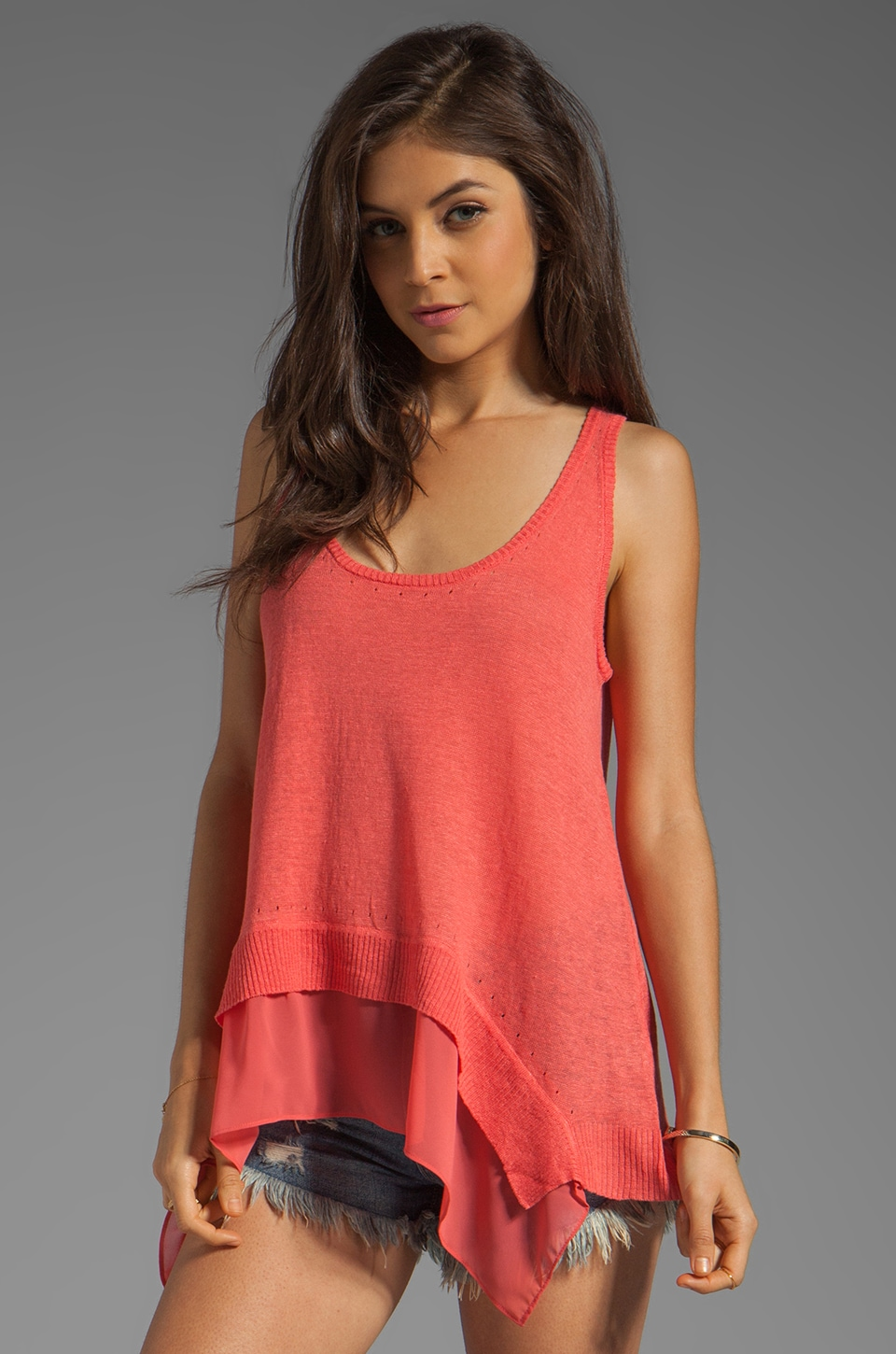 Central Park West Chapel Hill Tank in Coral