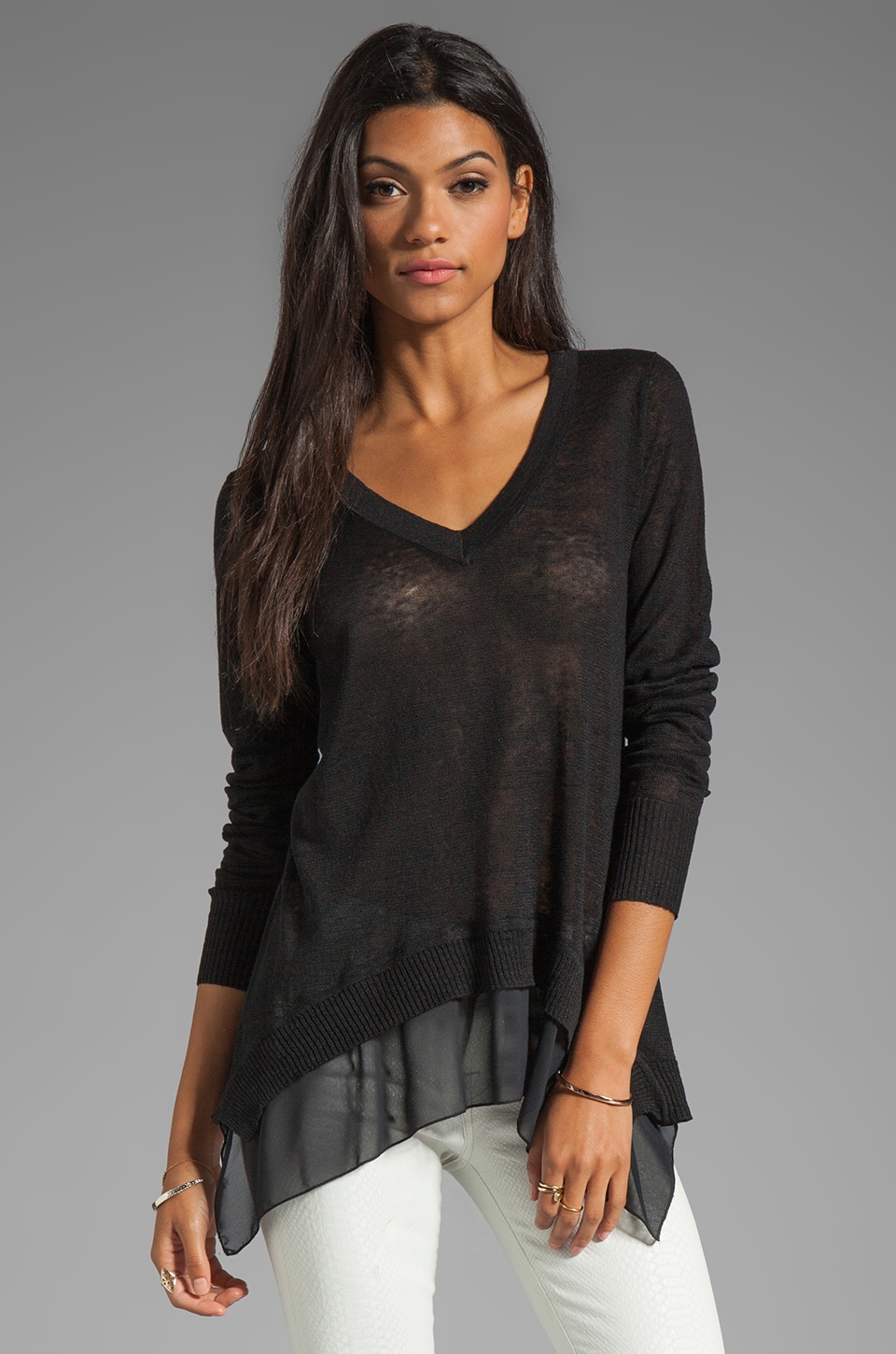 Central Park West Chapel Hill Top in Black