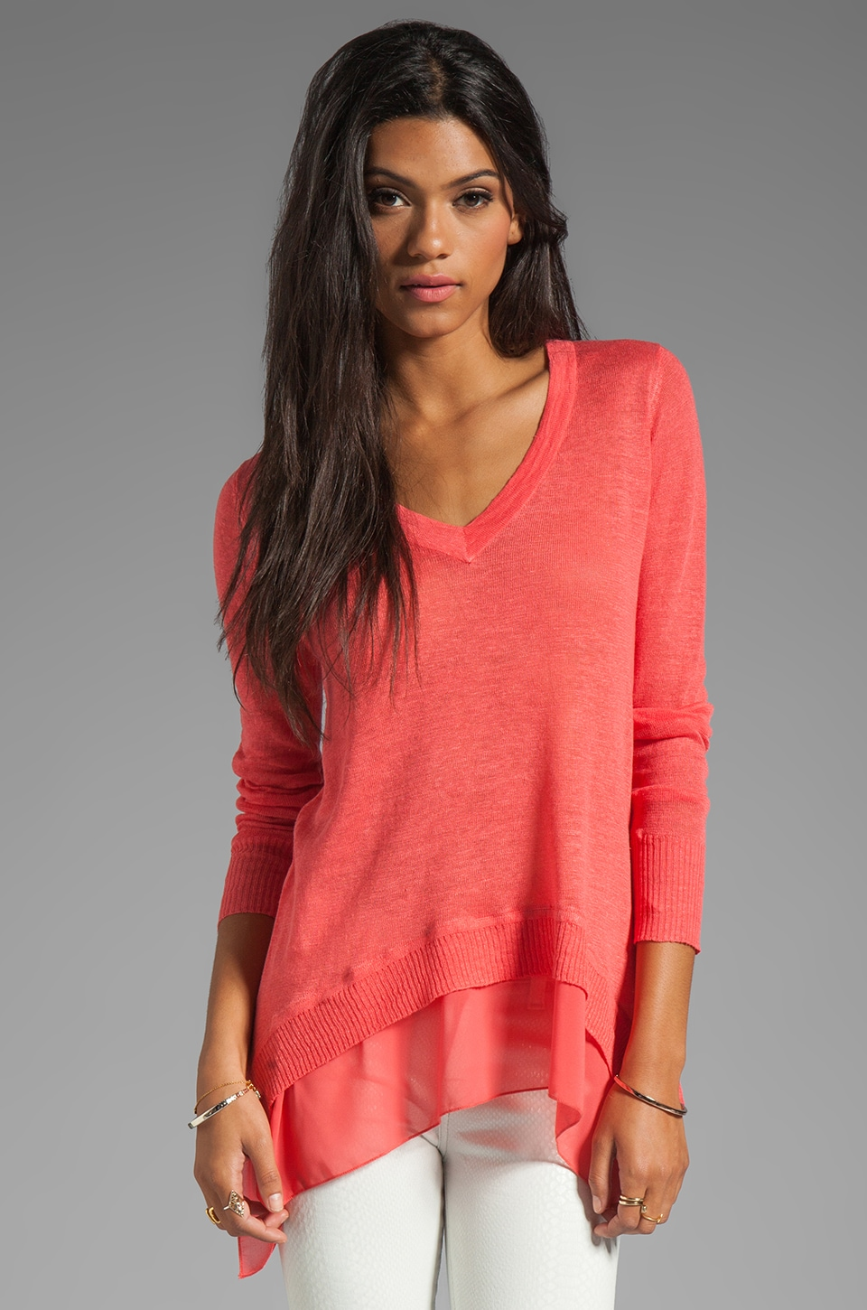 Central Park West Chapel Hill Top in Coral