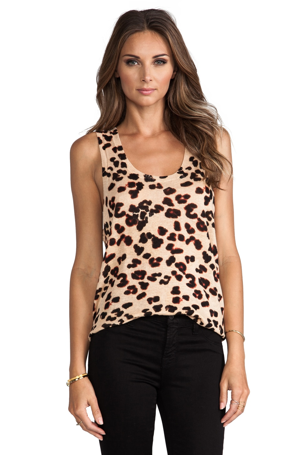 Central Park West La Paz Animal Print Tank in Cheetah