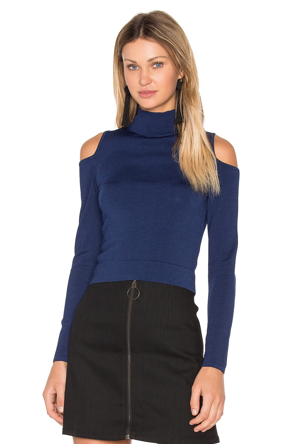 Irving Place Cold Shoulder Crop Top by Central Park West
