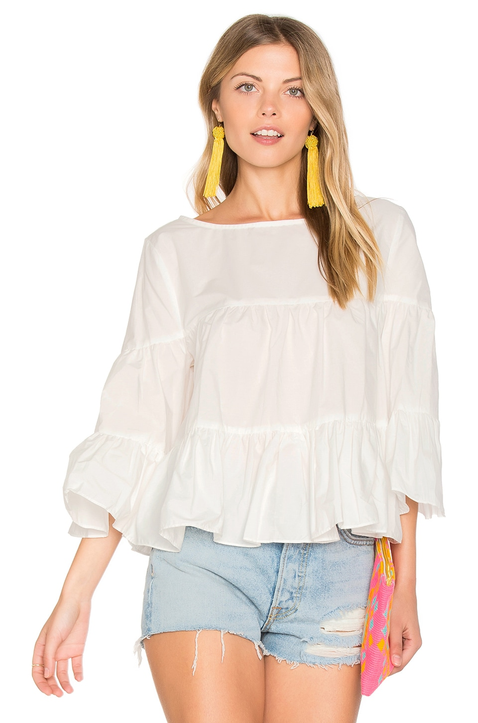 Palm Beach Ruffle Top by Central Park West