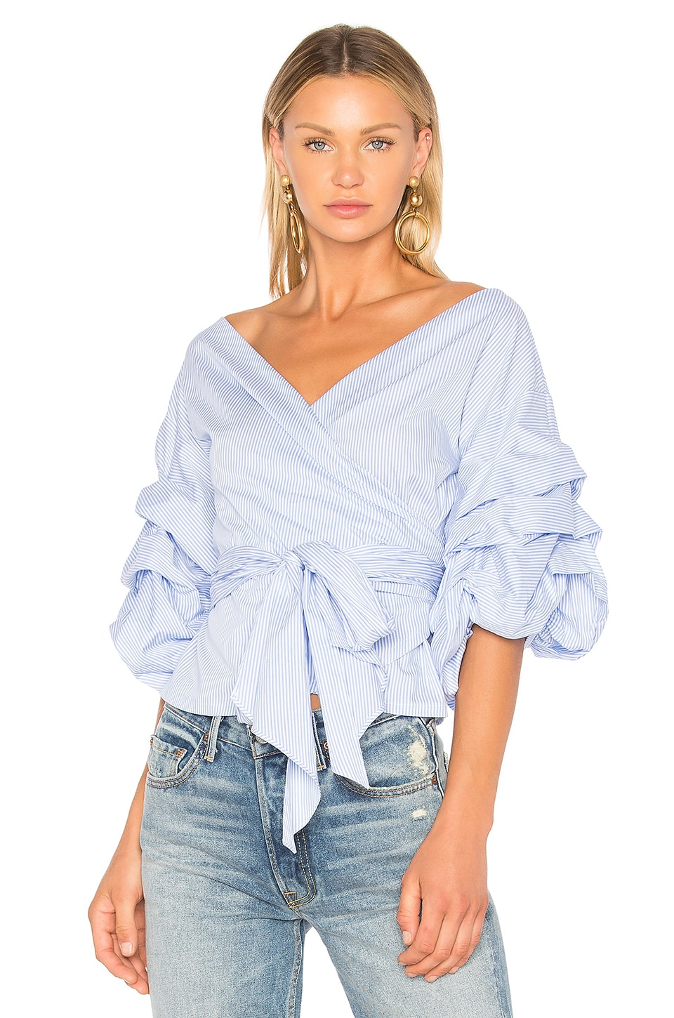 Beacon Street Wrap Blouse