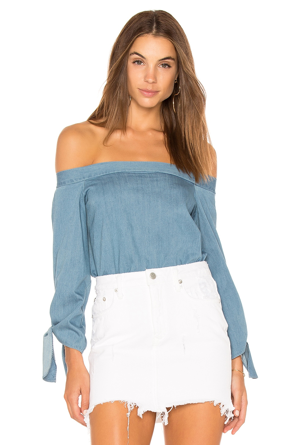 Central Park West Boulder Top in Denim