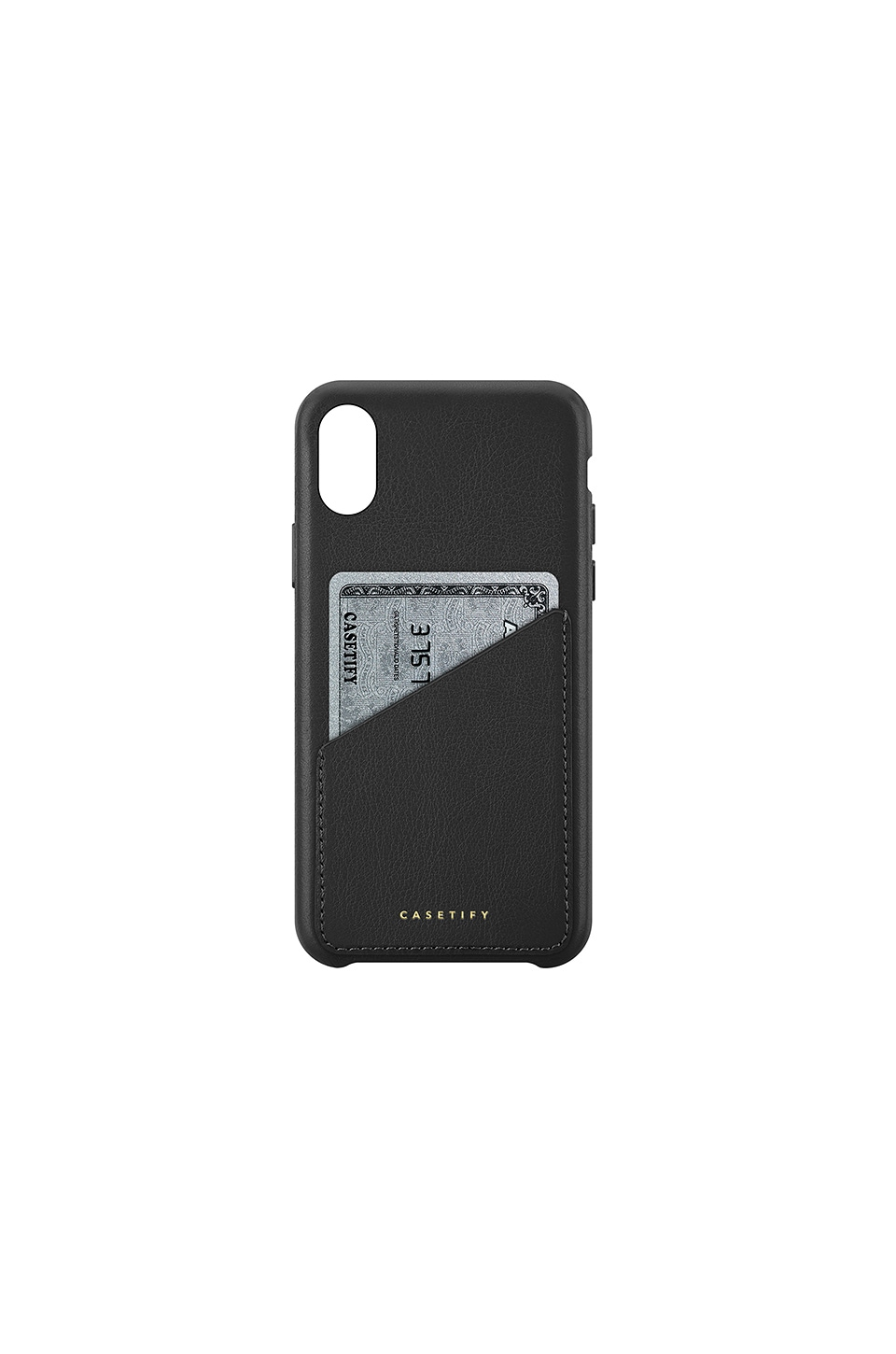 Leather Card Iphone X Case, Black
