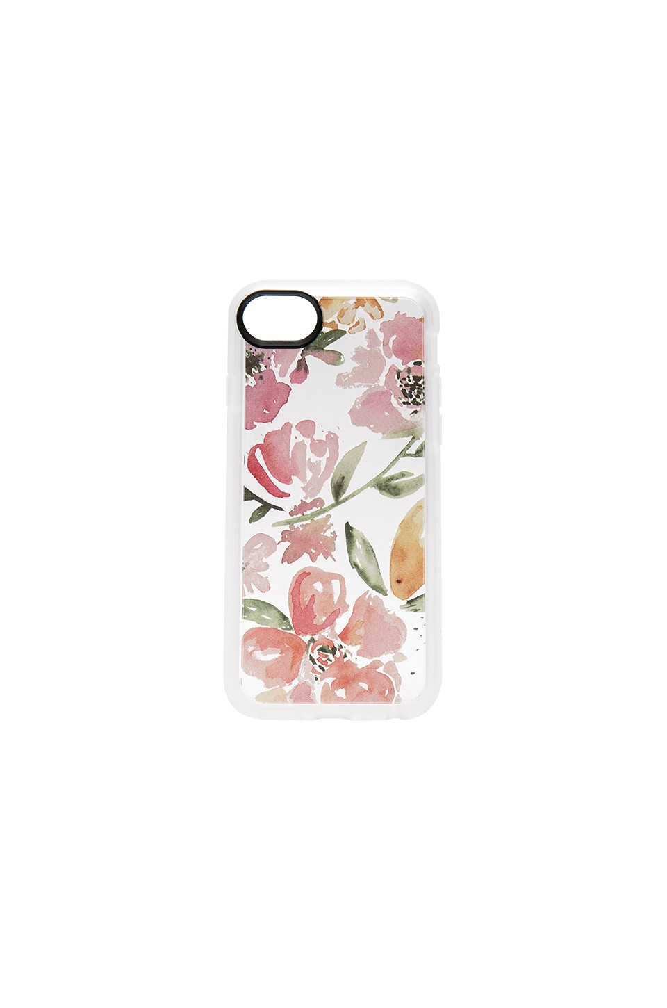 Casetify Floral Pink Gray iPhone 7 Case in Clear