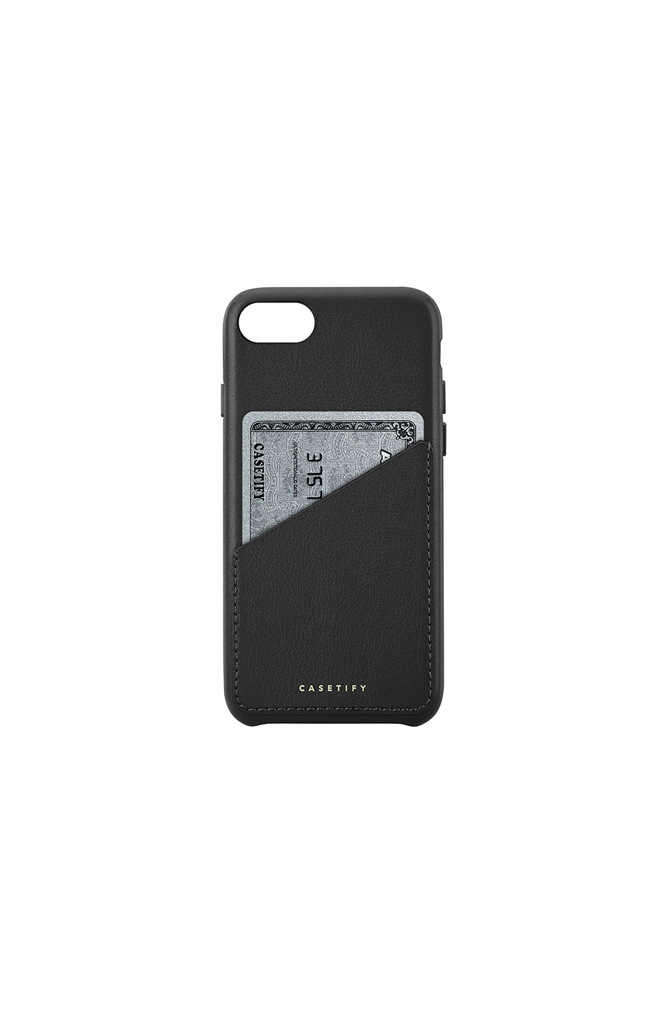 Leather Card Iphone 6/7/8 Case, Black