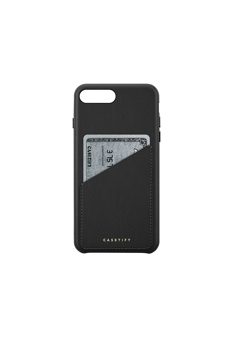 Leather Card Iphone 6/7/8 Plus Case, Black