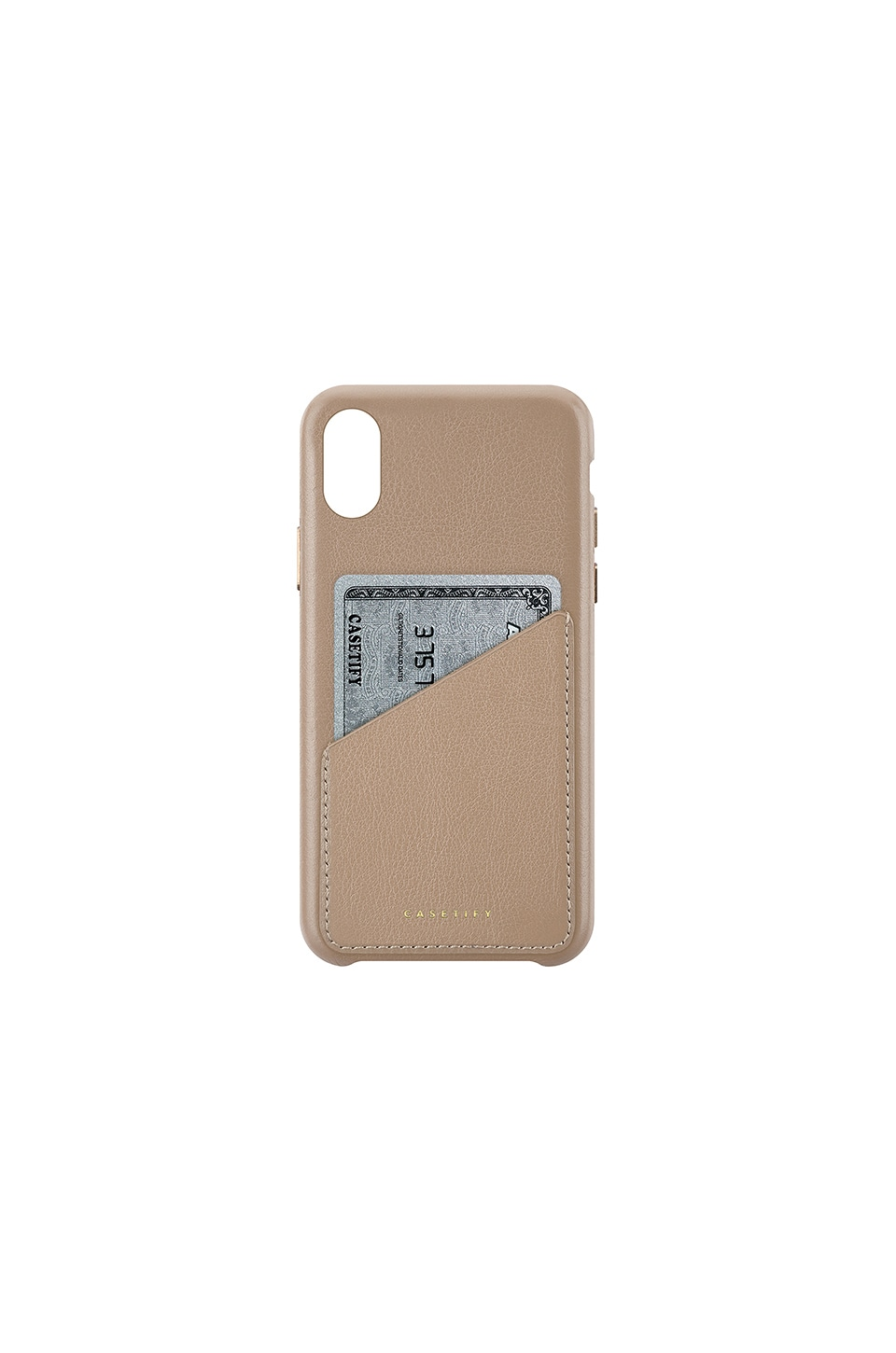 Leather Card Iphone X Case, Brown