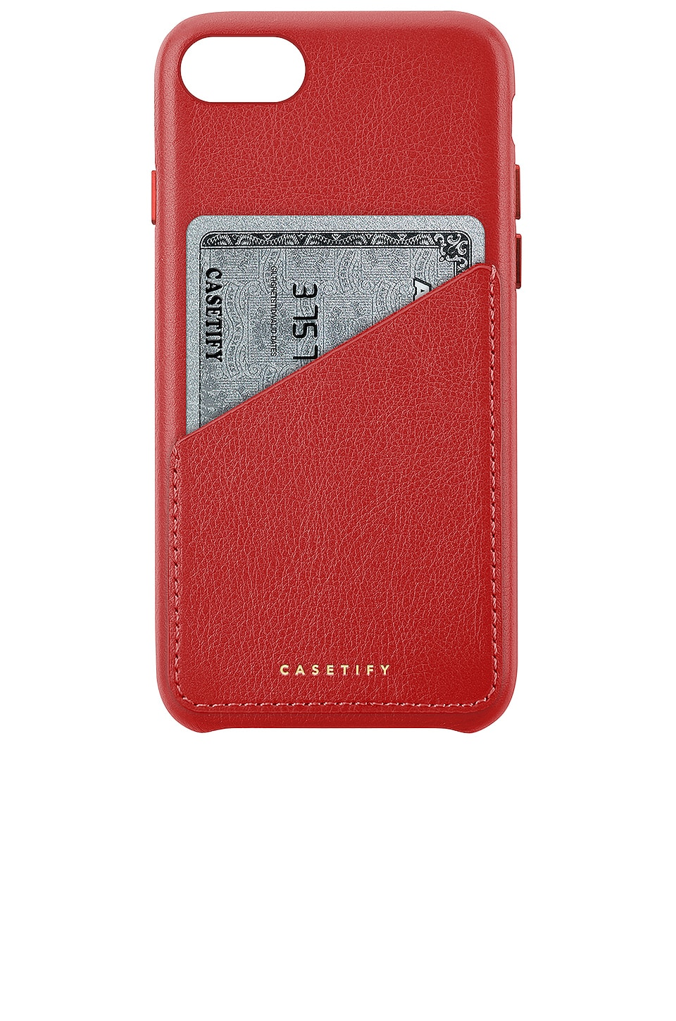 Leather Card Iphone 6/7/8 Case, Red
