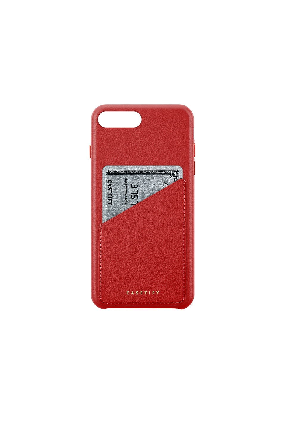 Leather Card Iphone 6/7/8 Plus Case in Red