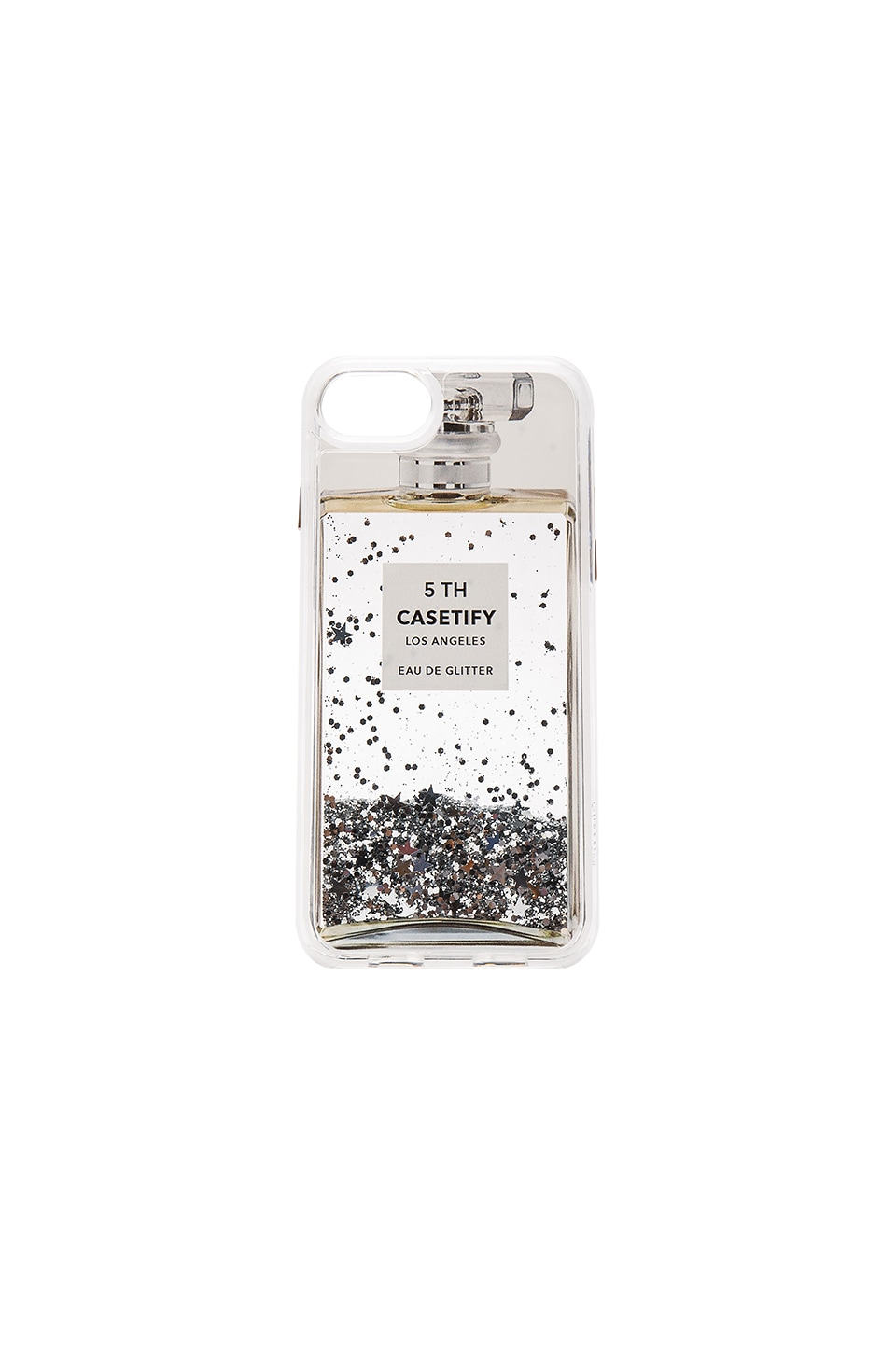 Casetify Miss Perfume iPhone 7 Glitter Case in Silver Holographic