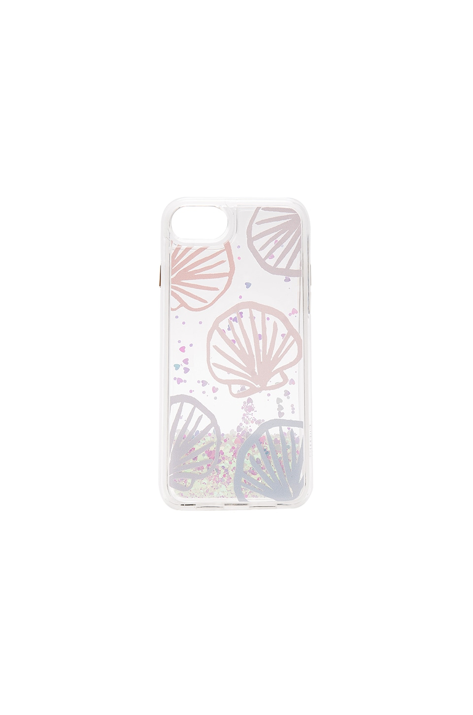 Casetify Seashell Scape iPhone 7 Glitter Case in Blue Pastel