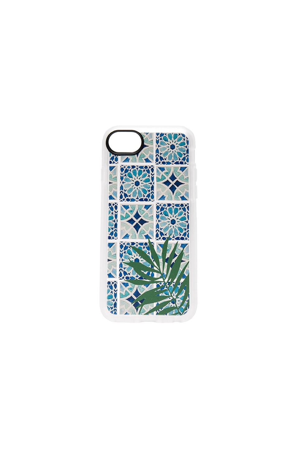 Casetify Tropical Leave Moroccan Tiles iPhone 7 Case in Clear